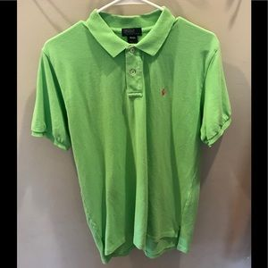 Boys Ralph Lauren lime green polo shirt. Size 20.